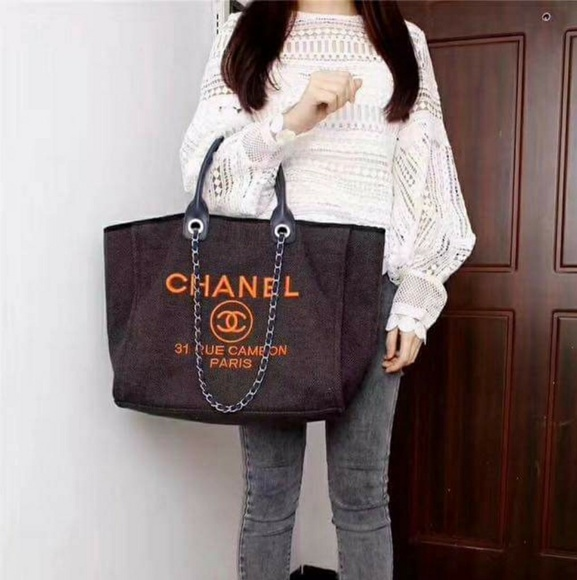 233e97b3a468 Bags | Chanel Canvas Large Deauville Tote | Poshmark
